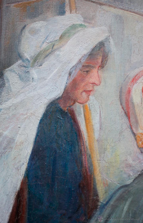 Arte: Mas i fondevila (1852-1934) La presentación de Jesús, óleo sobre tela, marco: 116x98 cm. - Foto 4 - 48731844