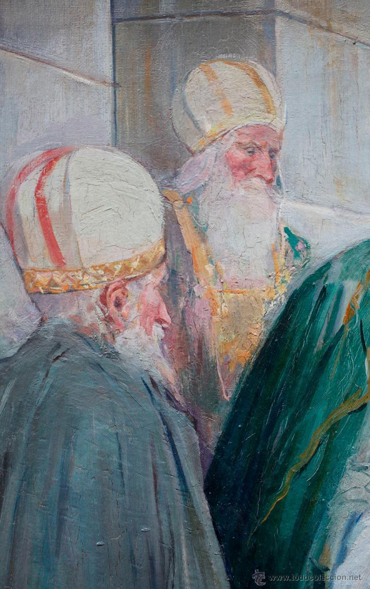 Arte: Mas i fondevila (1852-1934) La presentación de Jesús, óleo sobre tela, marco: 116x98 cm. - Foto 5 - 48731844