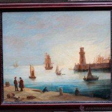 Arte: LUÍS GUALTIERI (VENECIA, 1820) PUERTO DE LA HABANA?, 1860'S APROX. ÓLEO SOBRE TELA 91X106CM. Lote 48735997