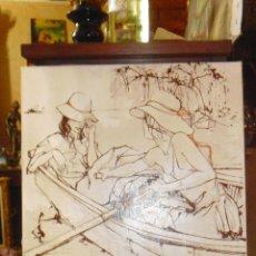 Arte: BERNARD DUFOUR. ACRILICO SOBRE LIENZO. . Lote 48737313