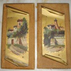 Arte: ORIGINAL PAREJA DE OLEO SOBRE METAL. JOSE MARIA JARDINES 1862 - 1914 (PINTOR GADITANO). Lote 48741199