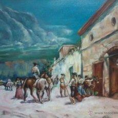 Arte: VENTA CON BANDOLEROS. ENRIQUE MONTES.. Lote 48746197