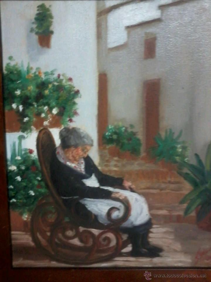Arte: ABUELA EN MECEDORA. JUAN GRANDE. - Foto 2 - 48746582