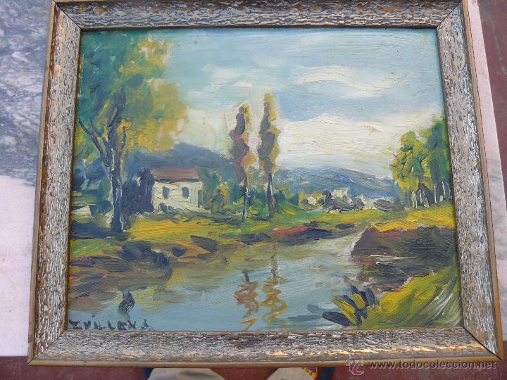 OLEO / TABLEX - FDO VILLENA - PAISAJE RURAL (Arte - Pintura - Pintura al Óleo Contemporánea )