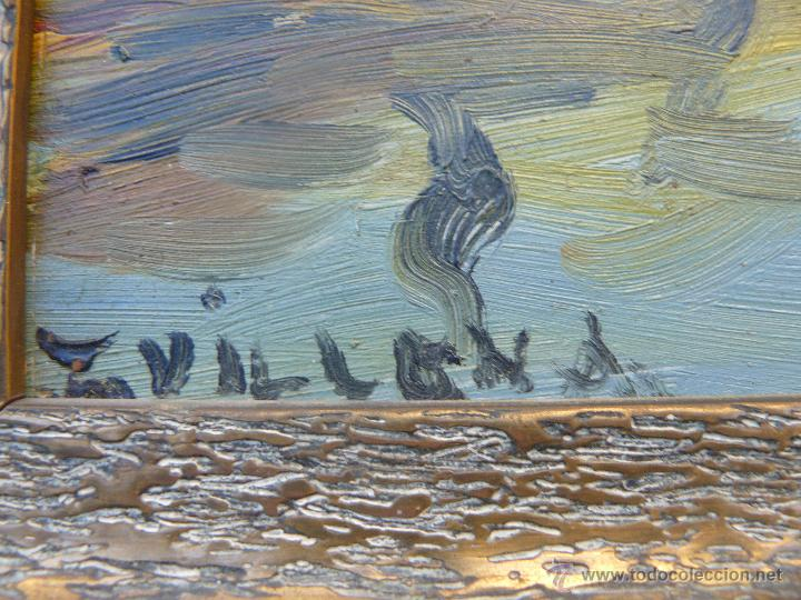Arte: OLEO / TABLEX - FDO VILLENA - PAISAJE RURAL - Foto 4 - 48870218