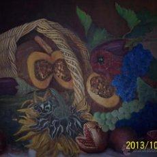 Arte: PRECIOSO BODEGON OLEO SOBRE LIENZO,. Lote 48945882