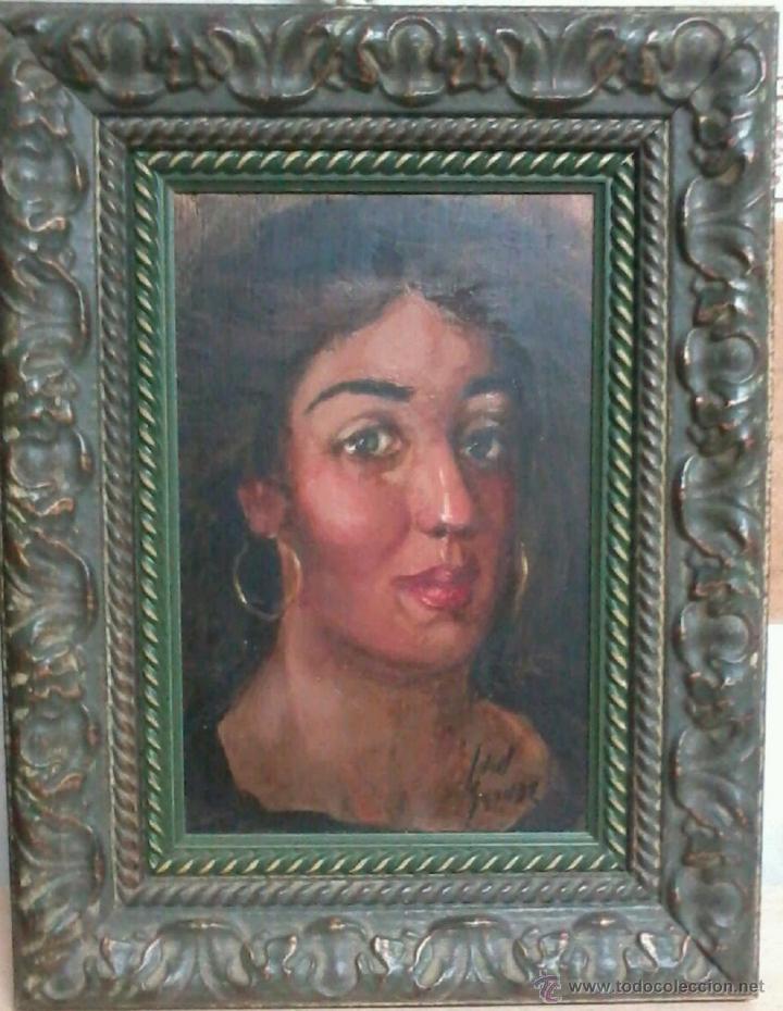 RETRATO DE MUJER. JUAN GRANDE. (Arte - Pintura - Pintura al Óleo Contemporánea )
