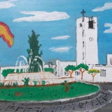 Arte: NÍJAR , SAN ISIDRO,ACRÍLICO SOBRE TABLA 30X40 CM. DE CRESPO. Lote 49035591