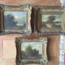 Arte: 3 TABLILLAS HOLANDESAS . SIGLO XIX. Lote 49065612