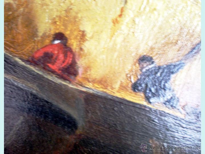 Arte: Detalle de 2 pescadore en el centro. - Foto 4 - 49710284