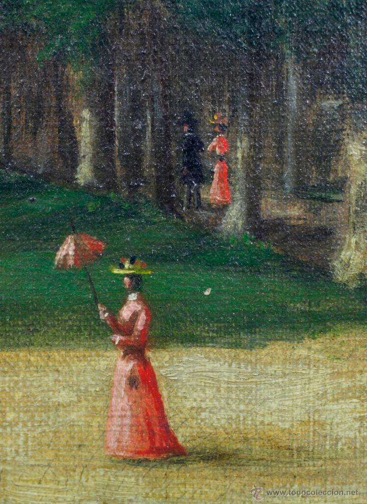 Arte: P.Horsin, 1896. Óleo sobre lienzo, 46x38 cm. Marco: 49x57 cm. - Foto 2 - 49108230