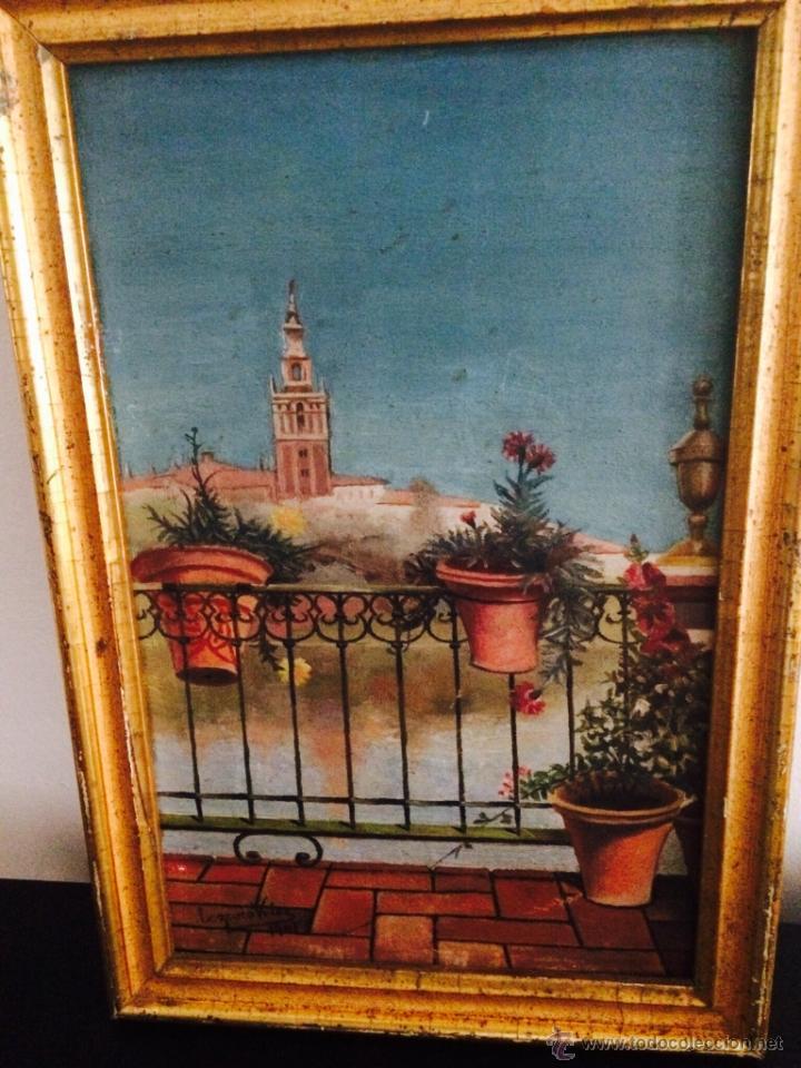 OLEO DE SEVILLA: VISTA DE LA GIRALDA DESDE TRIANA (1901) (Arte - Pintura - Pintura al Óleo Contemporánea )