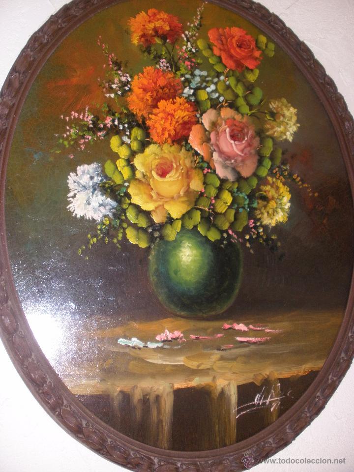 BODEGÓN DE FLORES AL ÓLEO CON FIRMA (Arte - Pintura - Pintura al Óleo Contemporánea )