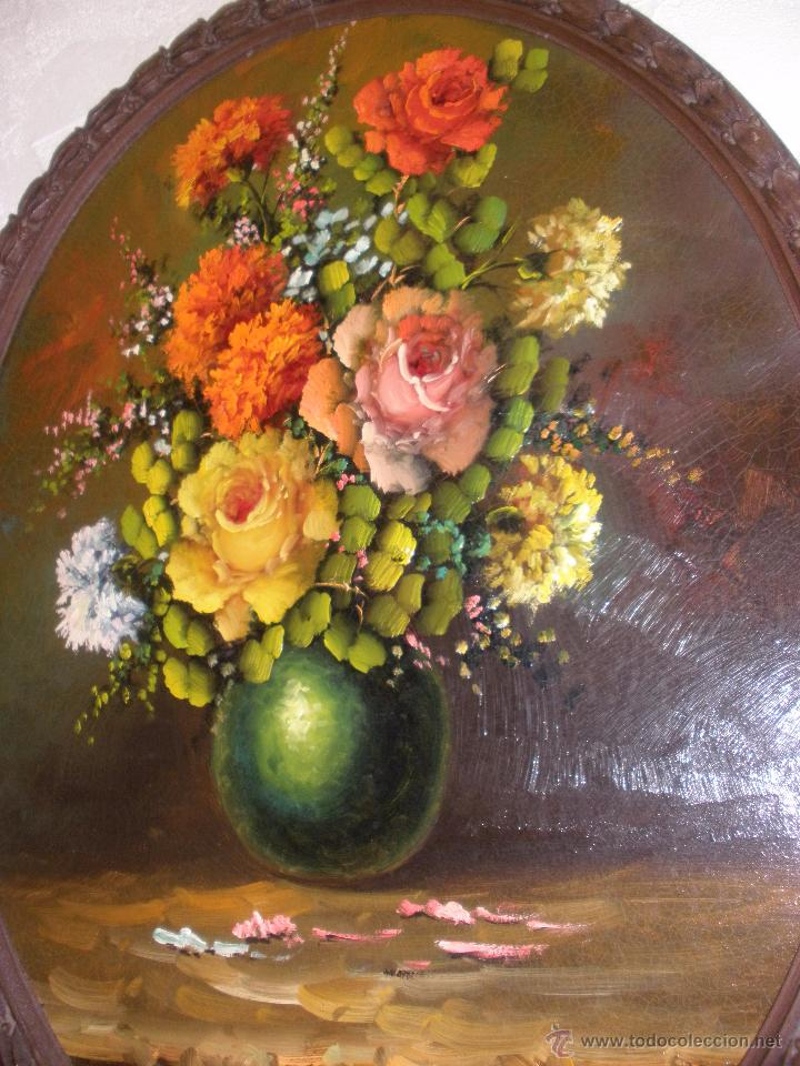 Arte: Bodegón de flores al óleo CON FIRMA - Foto 5 - 49151795