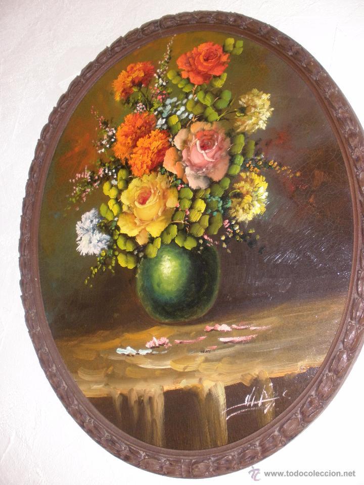 Arte: Bodegón de flores al óleo CON FIRMA - Foto 9 - 49151795