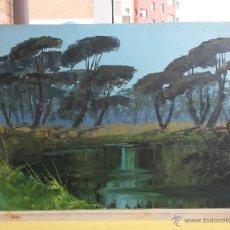 Arte: PAISAJE AL OLEO SOBRE TABLEX DE VALERIANO PINELL (1922-1983) TARRAGONA- INCA,BALEARES DE 80 X 50 CMS. Lote 49151954