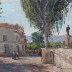 Arte: OLEO SOBRE LIENZO, FIRMADO ANTONIO BALIBREA PINTOR MURCIANO, MAÑANA EN EL MALECON. Lote 49158809