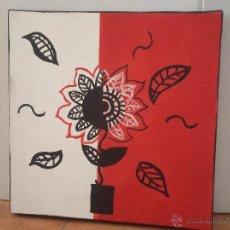 Arte: PINTURA DECORATIVA EN ROJO Y NEGRO. Lote 49176754