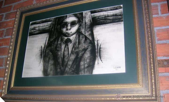 Arte: ALFONSO SUCASAS GUERRA. TECNICA MIXTA:OLEO-TINTAS A PINCEL1972-74.FIRMADO CERTIFICADO Md 46x75Cm - Foto 6 - 27550102