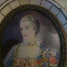 Arte: * MINIATURA SOBRE MARFIL DE MADAME POMPADOUR. S XVIII.. Lote 49268033