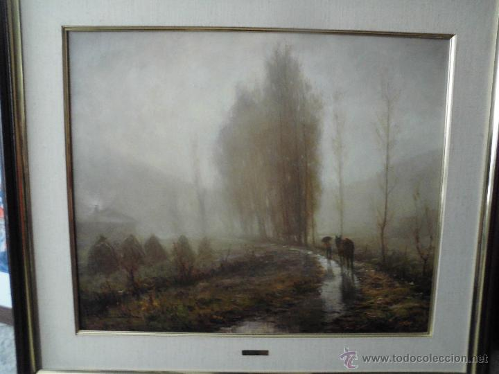 MAGNIFICO GRAN LIENZO DE PERE CULLDECARRERA,PINTOR DE OLOT TEMA PAISAJE (Arte - Pintura - Pintura al Óleo Moderna sin fecha definida)