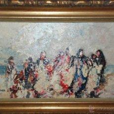 Arte: MUY BONITA PINTURA AL ÓLEO SOBRE TABLEX DE LUIS GINER VALLS. Lote 49343716