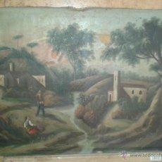Arte: OLEO SIGLO XVIII DE PAISAJE.. Lote 49355801