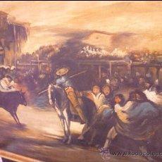 Arte: OLEO SOBRE LIENZO DE TEMA TAURINO,FINALES DEL XIX. Lote 207777040