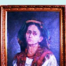 Arte: FINAL S. XIX.- RETRATO AL OLEO SOBRE LIENZO DEL PINTOR URUGUAYO A. GONZALEZ DE PLA. FIRMADO. 50 X 61. Lote 49436976