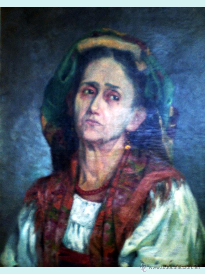 Arte: FINAL S. XIX.- RETRATO AL OLEO SOBRE LIENZO DEL PINTOR URUGUAYO A. GONZALEZ DE PLA. FIRMADO. 50 x 61 - Foto 2 - 49436976