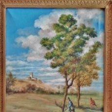Arte: 'CAZADORES'. ÓLEO SOBRE LIENZO FIRMADO CON INICIALES F.L. PRINCIPIOS DEL S. XX.. Lote 49438114
