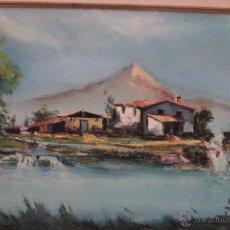 Arte: PAISAJE, OLEO SOBRE LIENZO, FIRMADO, ENMARCADO, 45X53CM -REF500-. Lote 49443724