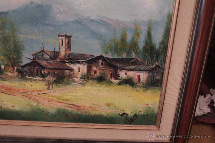 Arte: PAISAJE, OLEO SOBRE LIENZO, FIRMADO, ENMARCADO, 45X53CM -REF500- - Foto 3 - 49443756