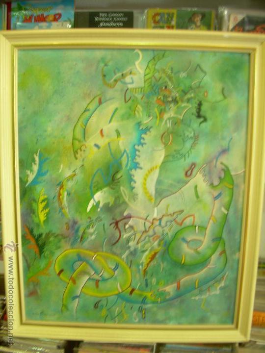 CUADRO DE VÍCTOR MIRA. TITULADO TURBADO ARAGONÉS. CON FOTO-POSTER DE VÍCTOR MIRA DE REGALO. (Arte - Pintura - Pintura al Óleo Contemporánea )