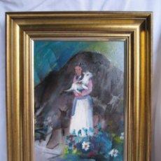 Arte: ÓLEO SOBRE LIENZO. JULIAN MOMOITIO LARRINAGA. 1987. Lote 49458955