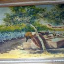 Arte: MARAVILLOSA PINTURA CUADRO AL OLEO COSTUMBRISTA FIRMADA Y FECHADA 1929. Lote 49488535