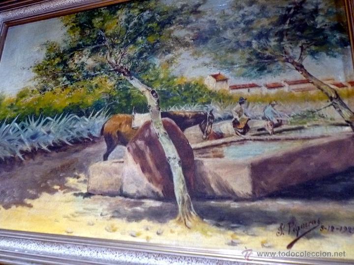 Arte: MARAVILLOSA PINTURA CUADRO AL OLEO COSTUMBRISTA FIRMADA Y FECHADA 1929 - Foto 4 - 49488535