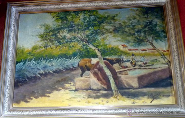 Arte: MARAVILLOSA PINTURA CUADRO AL OLEO COSTUMBRISTA FIRMADA Y FECHADA 1929 - Foto 6 - 49488535