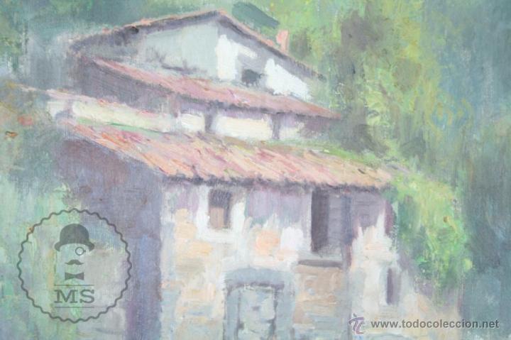 Arte: Pintura al Óleo Sobre Lienzo de Carbonell i Massabé. Molí del Solé, Rupit - Medidas 93 x 80 Cm - Foto 3 - 49495997