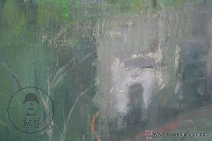 Arte: Pintura al Óleo Sobre Lienzo de Carbonell i Massabé. Molí del Solé, Rupit - Medidas 93 x 80 Cm - Foto 6 - 49495997