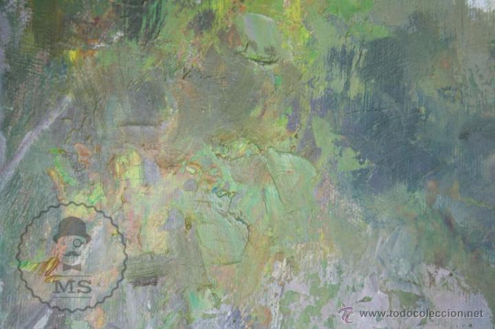 Arte: Pintura al Óleo Sobre Lienzo de Carbonell i Massabé. Molí del Solé, Rupit - Medidas 93 x 80 Cm - Foto 7 - 49495997