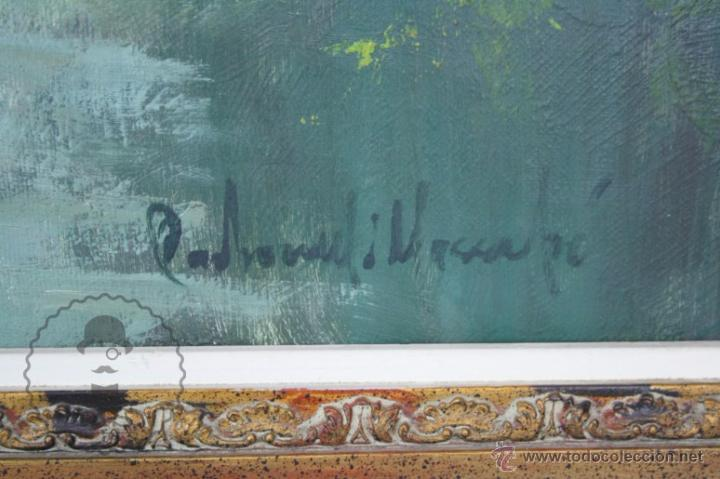 Arte: Pintura al Óleo Sobre Lienzo de Carbonell i Massabé. Molí del Solé, Rupit - Medidas 93 x 80 Cm - Foto 10 - 49495997