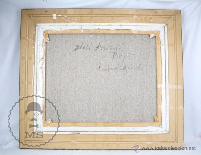 Arte: Pintura al Óleo Sobre Lienzo de Carbonell i Massabé. Molí del Solé, Rupit - Medidas 93 x 80 Cm - Foto 11 - 49495997