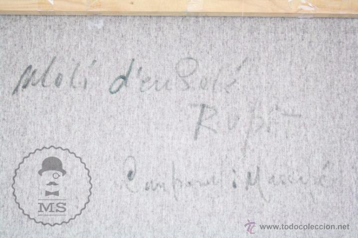 Arte: Pintura al Óleo Sobre Lienzo de Carbonell i Massabé. Molí del Solé, Rupit - Medidas 93 x 80 Cm - Foto 12 - 49495997