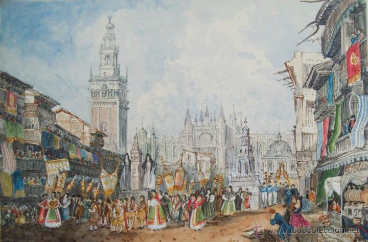 Procesion del corpus en sevilla david roberts comprar for Todo pintura sevilla
