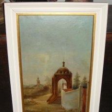 Arte: OLEO SOBRE LIENZO. S.XIX. HUMILLADERO DE LA CRUZ DEL CAMPO (CRUZCAMPO). SEVILLA. FIRMADO.. Lote 49612018