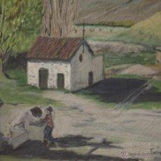 Arte - ÓLEO PAISAJE ESTILO DE LA ESCUELA DE VALLECAS AÑOS 70 - 49647792