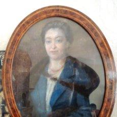 Arte: ANTIGUO CUADRO CON RETRATO DE MUJER AL PASTEL SOBRE TELA-SOBRE EL AÑO 1910- 1930- EN MUY BUEN ESTADO. Lote 49675407