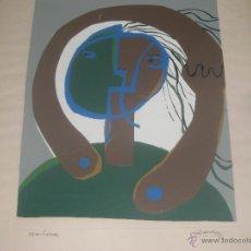 Arte: PINTURA SOBRE PAPEL CON PASSPARTU. 1974. Lote 49678500