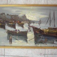 Arte: OLEO SOBRE TABLEX FIRMADO PONTI. 34 X 50 CM MEDIDAS CON MARCO.. Lote 49684025